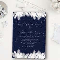 Addorable navy blue snow winter wedding invitation ewi367 as low as 0