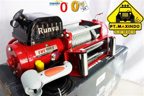 Runva High Speed Winch Ewx 9500 Q 3 With Synthetic Rope 43ton jual edition runva winch ewx 9500 q 4 3 ton