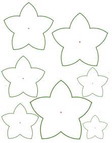 Easy Flower Template by Paper Flower Templates Cyberuse