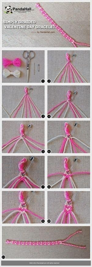 Hemp String Patterns - how to make cool bracelets with string really easy