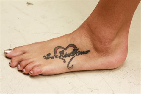 heart foot tattoos designs 35 awesome live laugh tattoos creativefan
