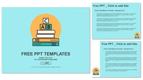 Alphabet Letter Abc Blocks On Books Powerpoint Templates Letter Template Powerpoint