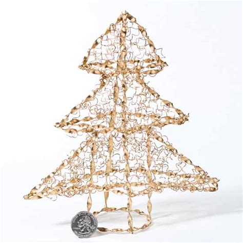 gold wire christmas tree trees and toppers christmas