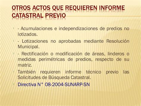 directiva n004 2004 sunarp inmatriculaci 243 n y catastro