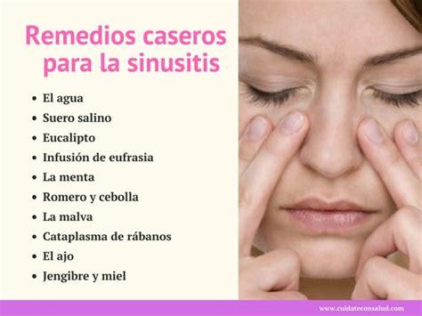 remedios caseros y naturales para la sinusitis mis los mejores remedios caseros para la sinusitis