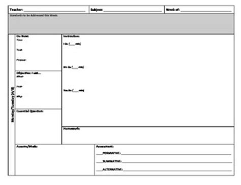 Block Schedule Lesson Plan Template By Julie W Tpt Lesson Plan Schedule Template