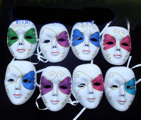 white plastic manual painting 6 color mask new design masked club
