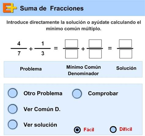 ccnn 2010 2 186 eso 2 186 eso recomendaciones b 193 sicas para matem 225 ticas 3 186 e s o practica la suma de fracciones