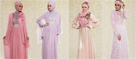 contoh baju ke pesta 10 contoh desain baju muslim wanita masa kini 2018 oke