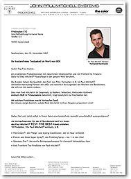 Anschreiben Firma Ansprechpartner Akquiseanschreiben Mailings