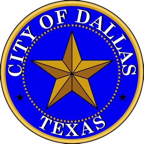 City Of Dallas Records File Seal Of Dallas Svg Wikimedia Commons