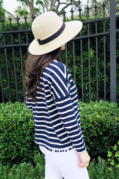 guest post flattering hats for every head already straw hats carly the prepster