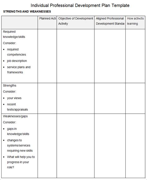 Professional Development Plan Template 13 Free Word Documents Download Free Premium Templates And Development Template
