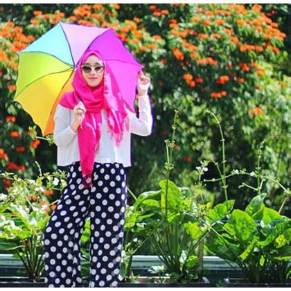 Jas Hujan Rainbow payung lipat pelangi 3d magic rainbow umbrella 3d elevenia
