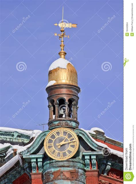 Cupola Tower Sun Trust Building Cupola Weather Vane Washington Stock