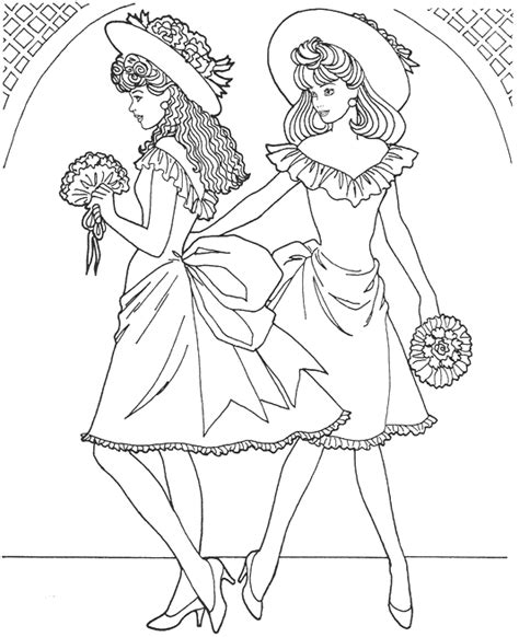 printable fashion model coloring page coloringpagebook com