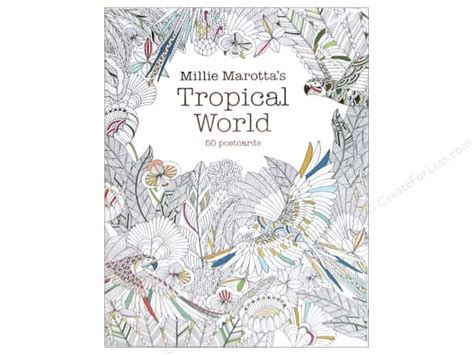 why do i millie books millie marotta s tropical world coloring postcards