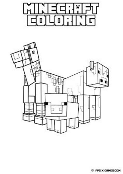 minecraft easter coloring page printable minecraft coloring animals create your own