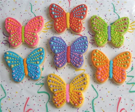 sparkle butterflies butterfly cookie favors butterfly