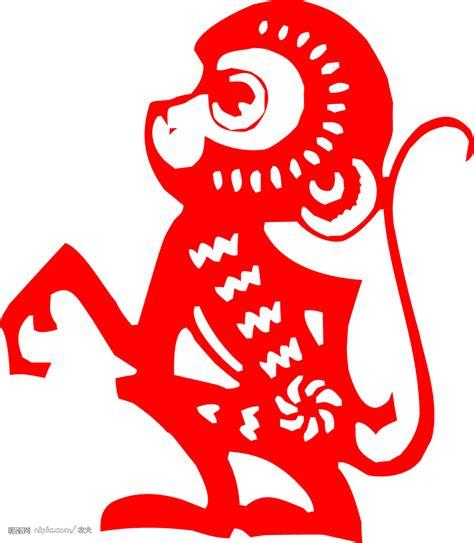 new year background monkey 猴子剪纸矢量图 传统文化 文化艺术 矢量图库 昵图网nipic