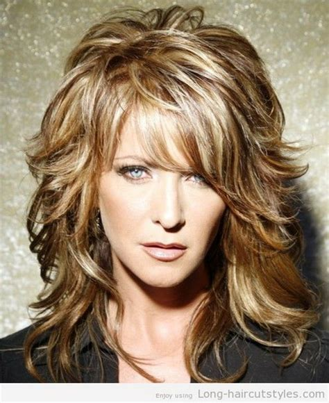 haircuts for older women with long faces long hairstyles for older women