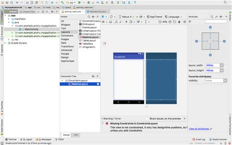change layout in android studio how to switch from the default constraintlayout to