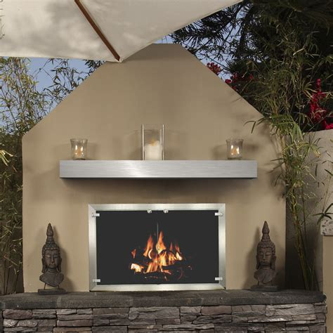 Stainless Steel Fireplace Mantel by Brushed Stainless Steel Mantel Shelf For Fireplace