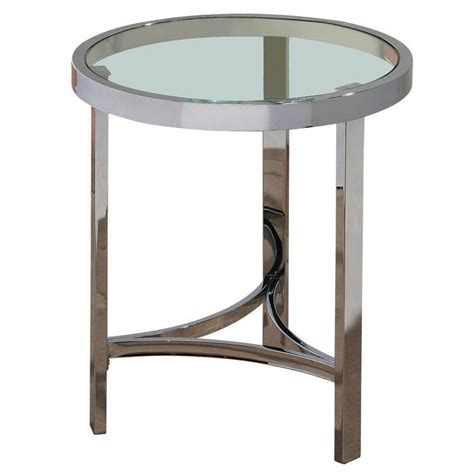 round accent table with glass top nate berkus gold accent table with glass top