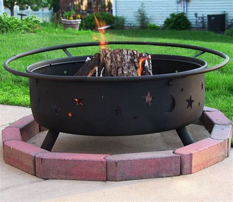 large firepit sunnydaze large cosmic pit ebay