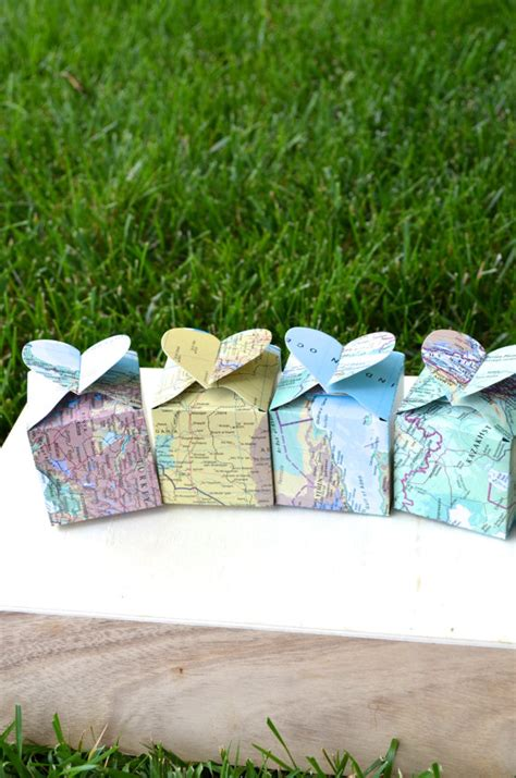 map travel themed wedding ideas on emmalinebride map favor boxes by thepathlesstraveled