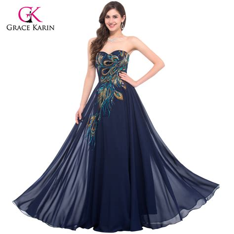 purple evening formal dresses overstock shopping aliexpress com buy peacock dress grace karin purple