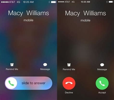 call between android and iphone why there are two options available in iphone for picking up the phone call quora