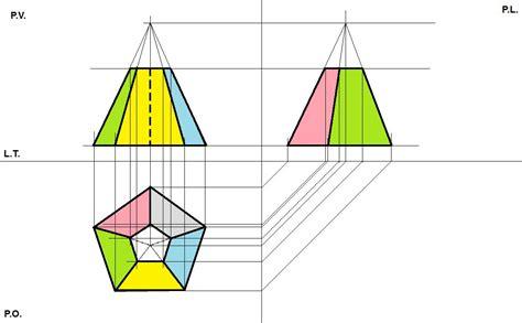 proiezioni ortogonali lettere po tronco piram pentagonale 2 pearltrees