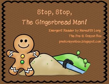 gingerbread man printable emergent reader gingerbread man emergent reader by meredith long tpt