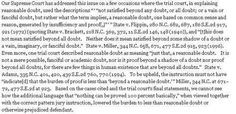 north carolina pattern jury instructions for civil cases what happens if i was over the legal limit