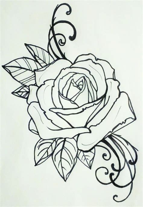 tattoo outline tattoo outlines pinterest tattoo 24 best traditional rose tattoo outline images on