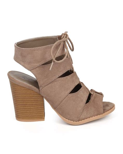 We All Like The Peep Toe But How Bout The Peep Toe Knuckle Introducing Givenchy Cutouts by Shoes Qupid Dc92 Suede Peep Toe Gilly Tie Block Heel