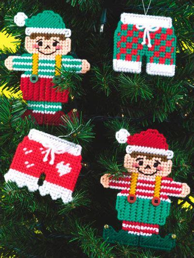 plastic canvas christmas whimsical christmas ornaments
