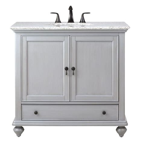 Home Decorators Collection Bathroom Vanity by Home Decorators Collection Newport 37 In W X 21 1 2 In D Bath Vanity In Pewter With Granite
