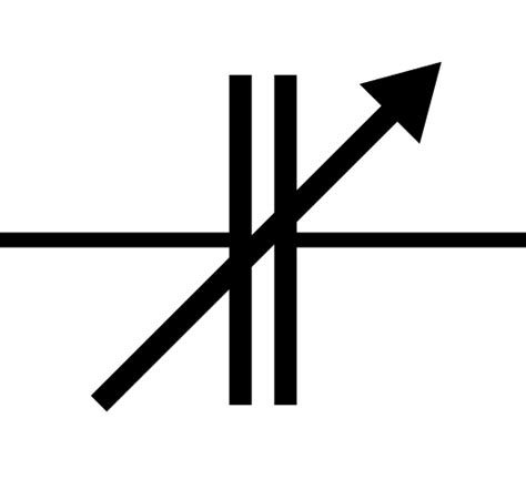 variable capacitor symbol file variable capacitor symbol svg