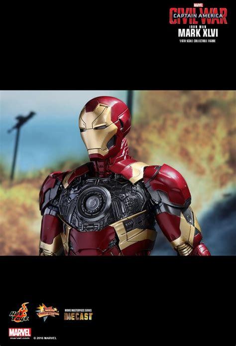 captain america by mark iron man mark xlvi captain america civil war 1 6th scale mms353d16 actionfigur marvel