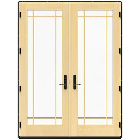 Jeld Wen French Patio Doors With Blinds Jeld Wen 71 25 In X 95 5 In W 4500 Chestnut Bronze Right