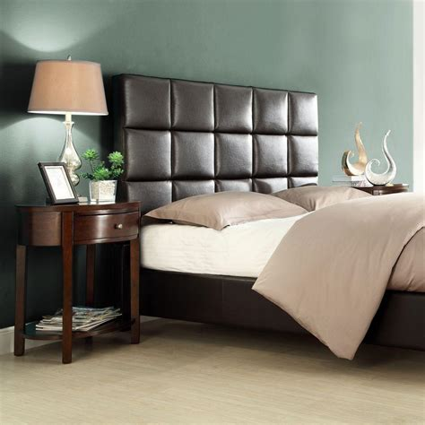 Headboard And Footboard Set by Astounding Brown Tufted Leather Sleigh Bed Design With