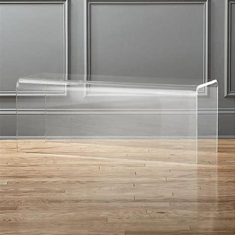 clear acrylic bench clear peekaboo acrylic bench