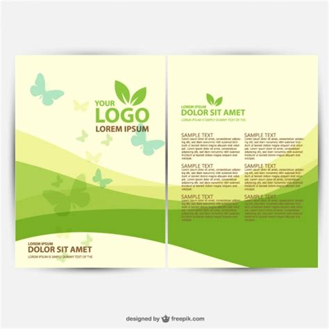 brochure templates eps free download brochure ecology template vector free download