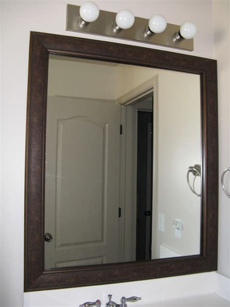 frame existing bathroom mirror bathroom mirror frame salt lake city by reflected