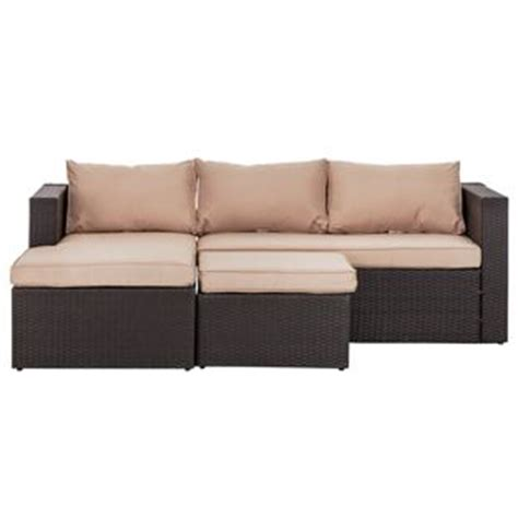 argos rattan sofa buy rattan effect 3 seater mini corner sofa black at