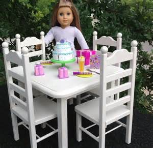 american doll table 4 chair set
