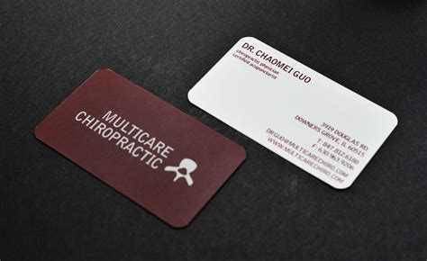 design online chiropractic business cards multicare chiropractic business card design for multicare