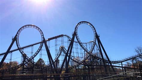 theme park hd theme park roller coaster ride 2 stock footage video